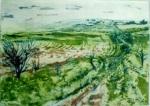 'Ridgeway Path' Etching Rahima Kenner 2012